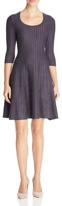 NIC+ZOE Ribbed Fit and Flare Dress - 100% Exclusive $218 thestylecure.com