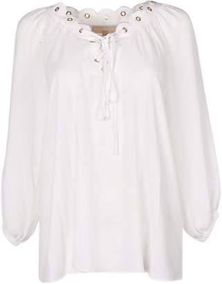 34ce01d7749599 at Italist · Michael Kors Scalloped Eyelet Blouse