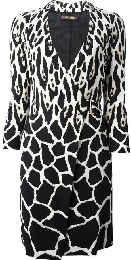 Roberto Cavalli leopard print wrap dress