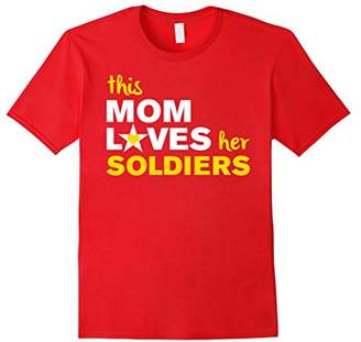 This Mom Loves Her Soldiers USA T-Shirt