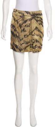 Diane von Furstenberg Pleated Mini Skirt
