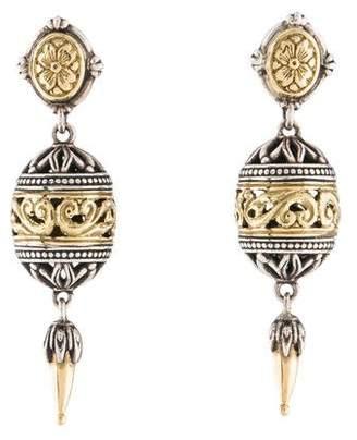 Konstantino Gaia Filigree Drop Earrings