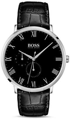 HUGO BOSS BOSS HUGO by William Black Croc-Embossed Leather Watch, 40mm