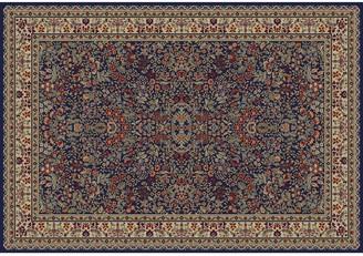 Merinos Sarouk Floral Framed Rug - 6'7'' x 9'3''