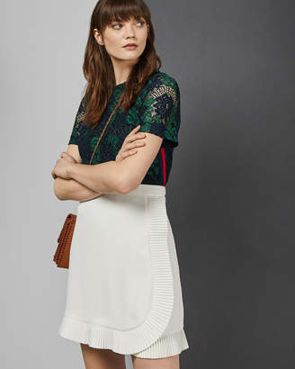 Ted Baker AVELINA Ruffle wrap mini skirt