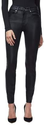 Good American Good Legs Waxed Skinny Jeans