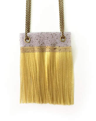 Motley Collections Gold Fringe Necklace