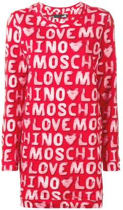 Love Moschino logo print sweater dress