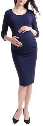 Kimi and Kai Dani Henley Maternity Dress