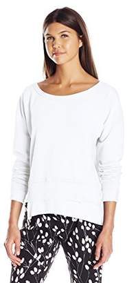 Wilt Women's One Shoulder Easy Shifted Sweatshirt