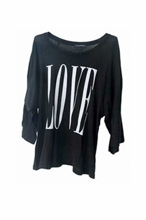 Wildfox Couture Big Love Raglan Tee in Black