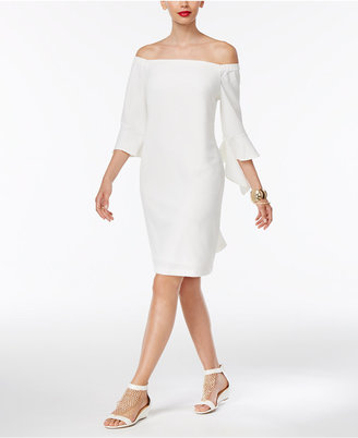 Thalia Sodi Off-The-Shoulder Sheath Dress, Only at Macy's $89.50 thestylecure.com