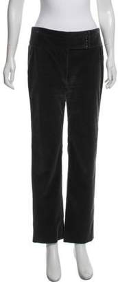 Giorgio Armani Corduroy Mid-Rise Pants Grey Corduroy Mid-Rise Pants