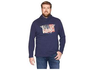 Polo Ralph Lauren Big Tall Slub Jersey American Pullover Hood T-Shirt