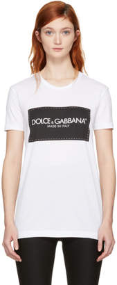 Dolce & Gabbana White Logo T-Shirt