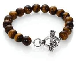 King Baby Studio Tiger's Eye Beaded Bracelet