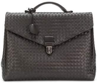 Bottega Veneta espresso Intrecciato nappa briefcase