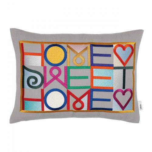 Embroidered Kissen, Home Sweet Home