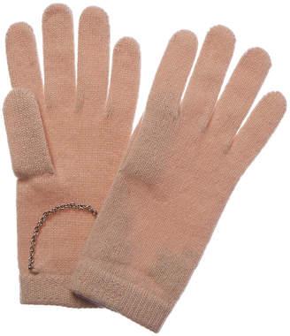 Portolano Cashmere Chain-Trim Cashmere Glove