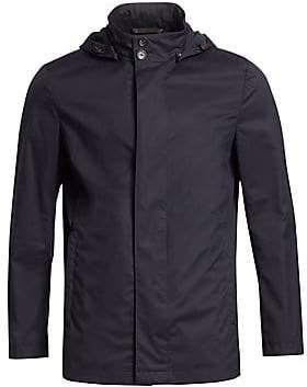 Ermenegildo Zegna Men's Super-Light Hooded Jacket