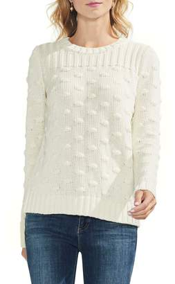 Vince Camuto Vince Camto Popcorn Stitch Cotton Sweater