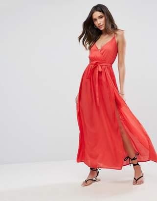 ASOS Woven Wrap Maxi Beach Dress $42 thestylecure.com
