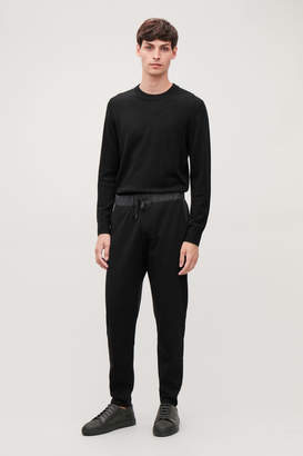 Cos NYLON-DETAIL JERSEY TROUSERS
