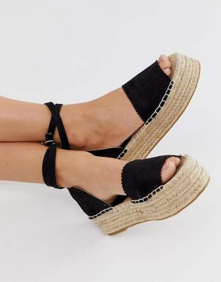 d0a7d210cfe5 South Beach flatform sandals with ankle straps