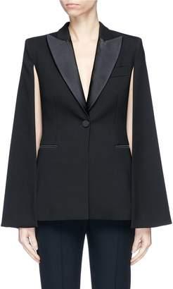 Stella McCartney Wool cape back tuxedo blazer
