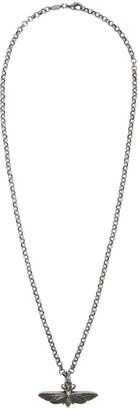Alexander McQueen Silver Moth Necklace $395 thestylecure.com