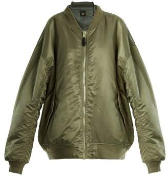 Vetements Reversible Bomber Jacket - Womens - Khaki