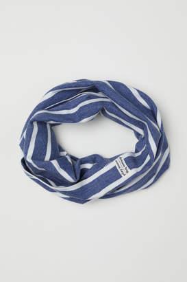 H&M Rib-knit Tube Scarf - Blue