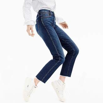 J.Crew Vintage straight jean in Mayville wash with cut hem