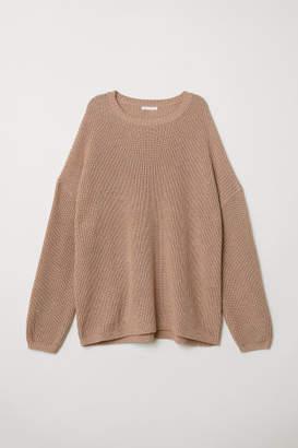 H&M Rib-knit Sweater - Beige