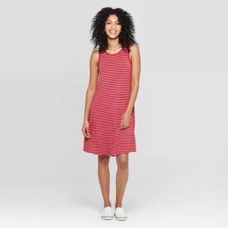 A New Day Women's Striped Regular Fit Sleeveless Round Neck Knit Tank Dress