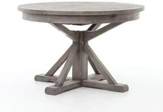 "Pottery Barn Hart 48"" Reclaimed Wood Extending Dining Table, Black Olive"