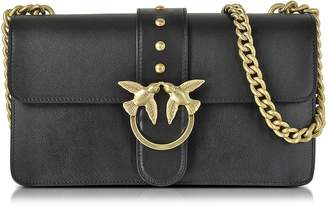Pinko Love Simply 2 Black Eco Leather Shoulder Bag