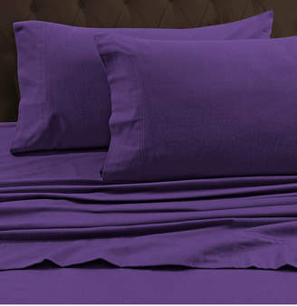 Tribeca Marwah Corporation Living Living 170-gsm Heavyweight Solid Flannel Queen Fitted Sheet Bedding