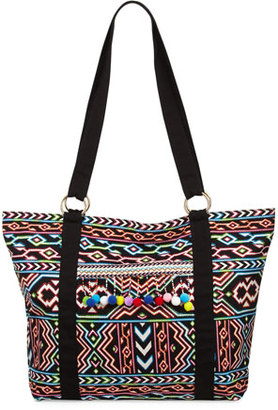 La Blanca La Azteca Beach Tote Bag, Multicolor $89 thestylecure.com