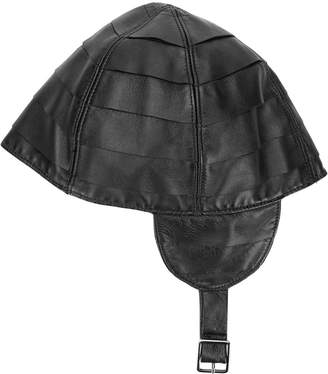 Giorgio Armani Pre-Owned leather riding hat