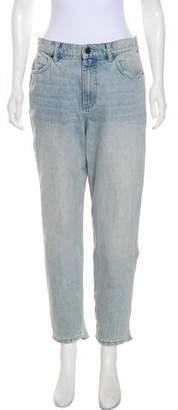 Alexander Wang Denim x High-Rise Straight-Leg Jeans