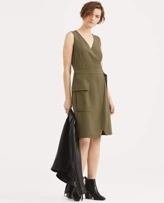 Ralph Lauren Stretch Cady Wrap Dress