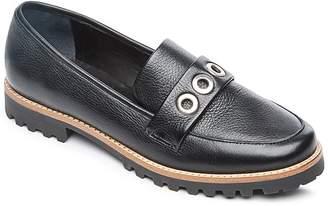 Bernardo Women's Ozzy Round Toe Grommet Leather Loafers