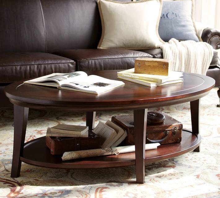 Pottery Barn Metropolitan Oval Coffee Table