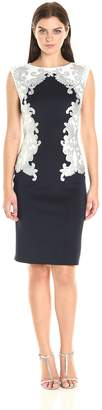 Tadashi Shoji Women's Neoprene with Sequin Detail Dress