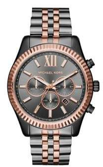 Michael Kors Lexington Two-Tone Stainless Steel Chronograph Bracelet Watch