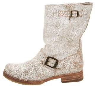 Frye Distressed Mid-Calf Boots