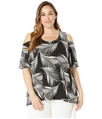 ac9d9ba2b9aa Karen Kane Women s Plus Size Cold Shoulder TOP