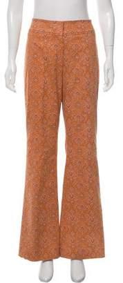Oscar de la Renta Wide-Leg Paisley Print Pants