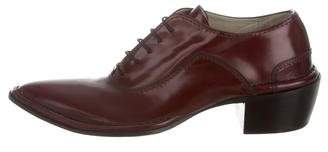 CNC Costume National Leather Lace-Up Oxfords